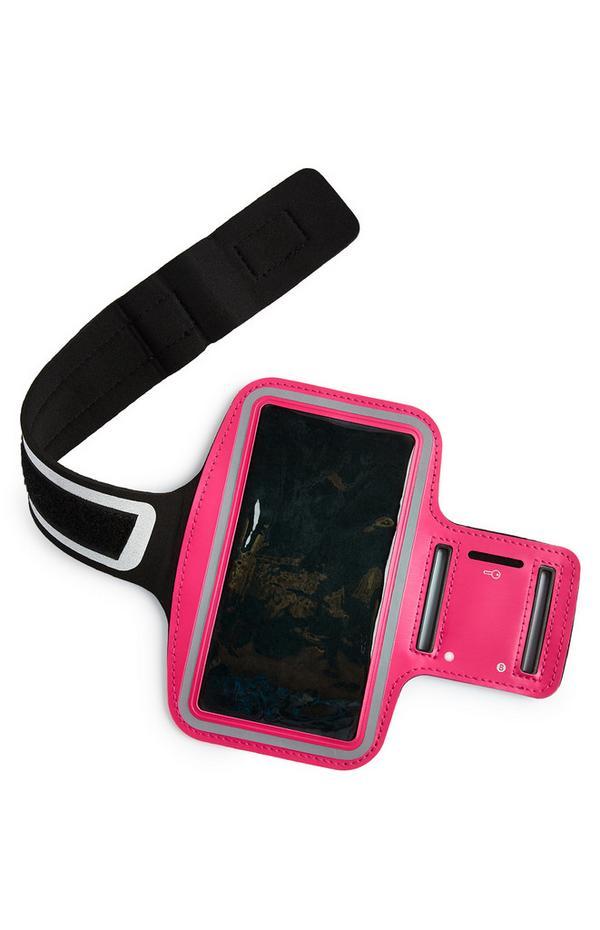 Bracelete Plus corrida/treino cor-de-rosa