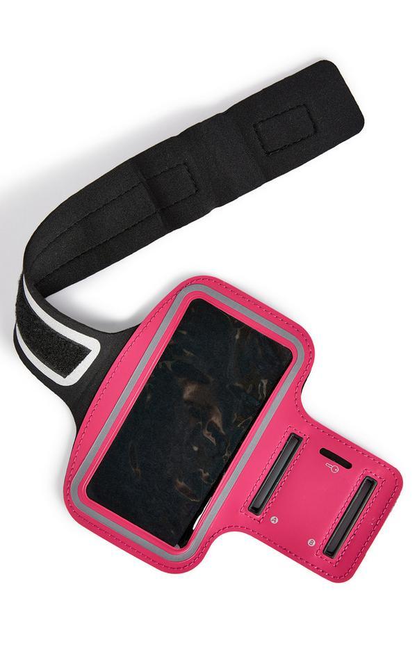 Bracelete corrida/treino cor-de-rosa