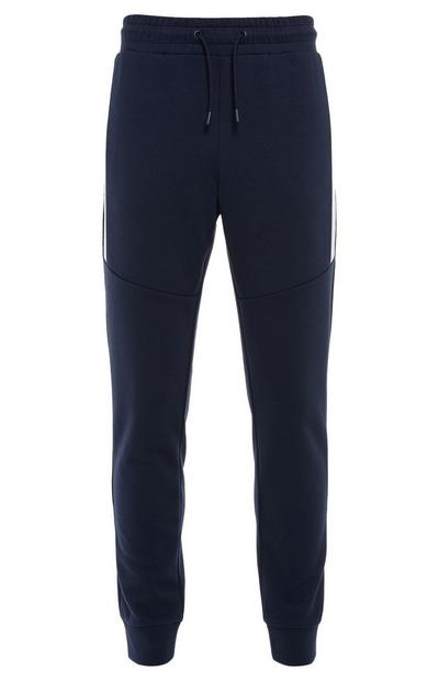 Navy Sports Color Block Joggers