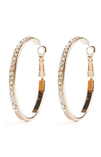 Diamonte Hoop Earrings