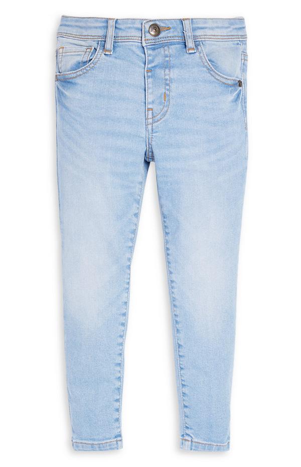 Jeans skinny azzurri in denim da bambino