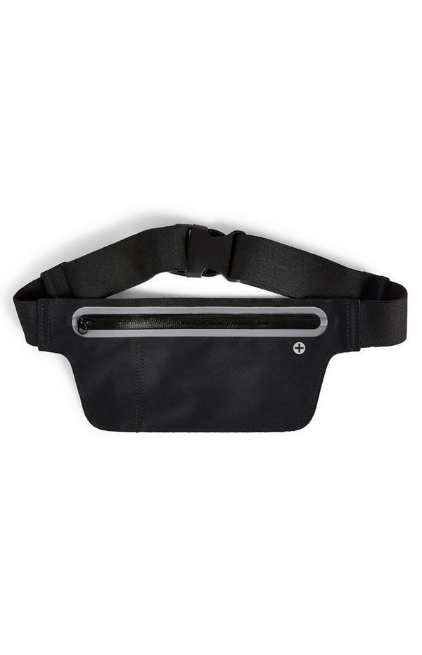 Sac ceinture de sport large noir