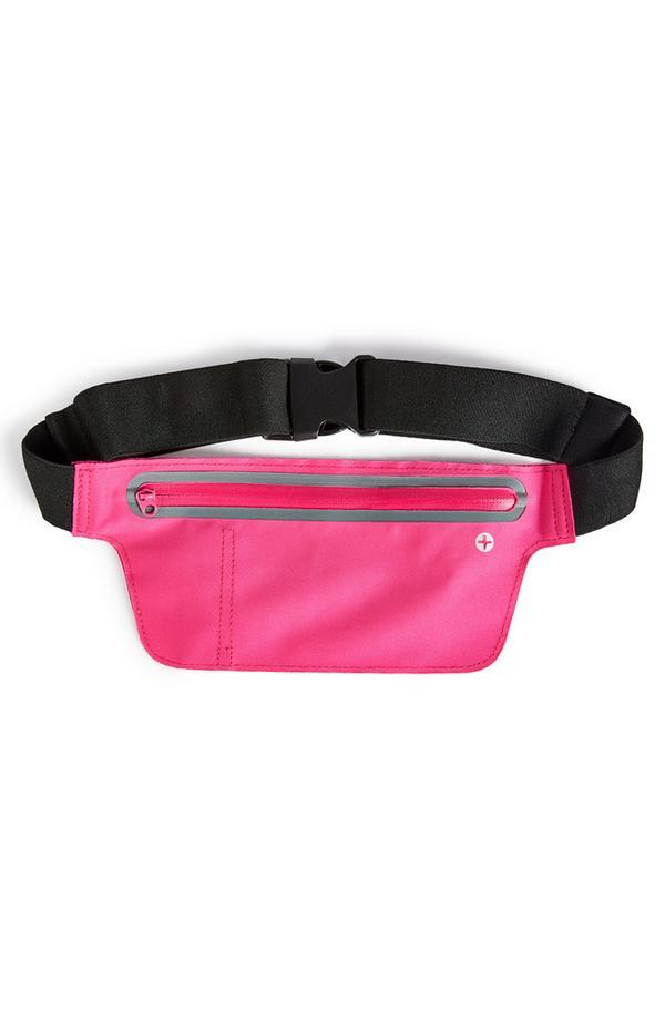 Sac ceinture de sport large rose