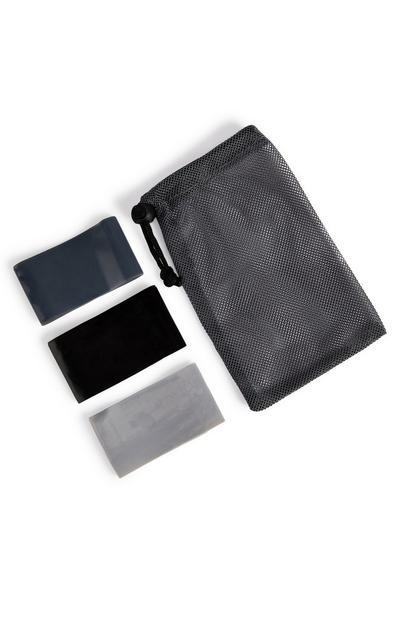 Schwarze Trainingsbänder im Set