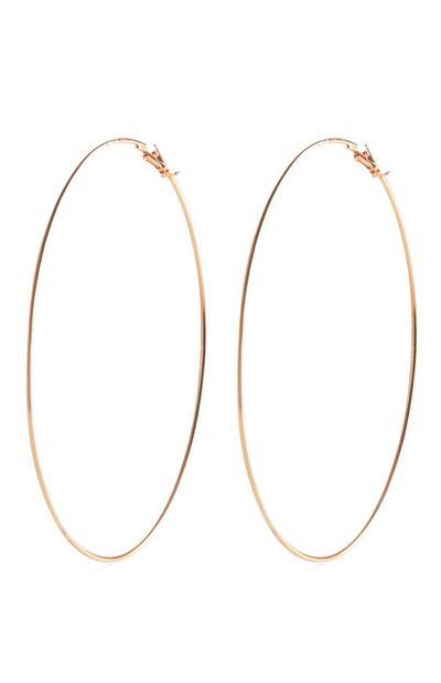Goldtone Extra Large Hoop Earrings