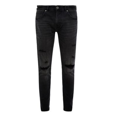 Open Rip Super Skinny Dark Wash Jeans