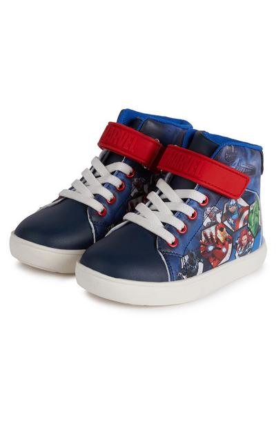 Younger Boy Navy Disney Avengers High Top Trainers