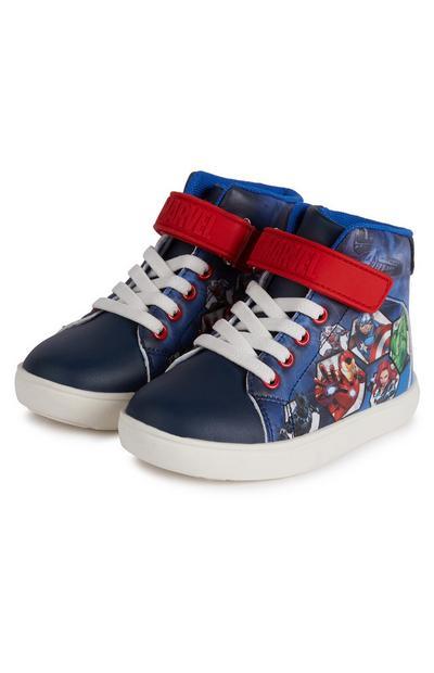 Donkerblauwe hoge sneakers Disney Avengers voor jongens
