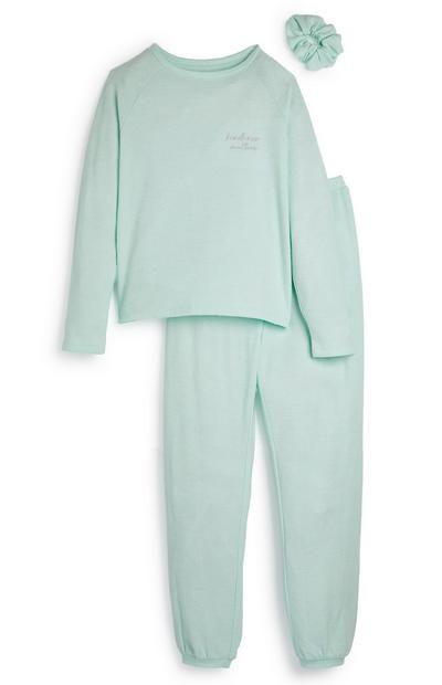 Mintgroene pyjama voor meisjes