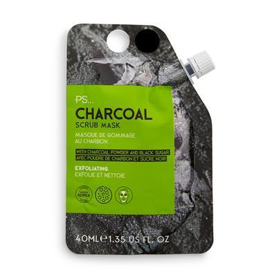 Pochette avec masque exfoliant pour le visage au charbon Ps