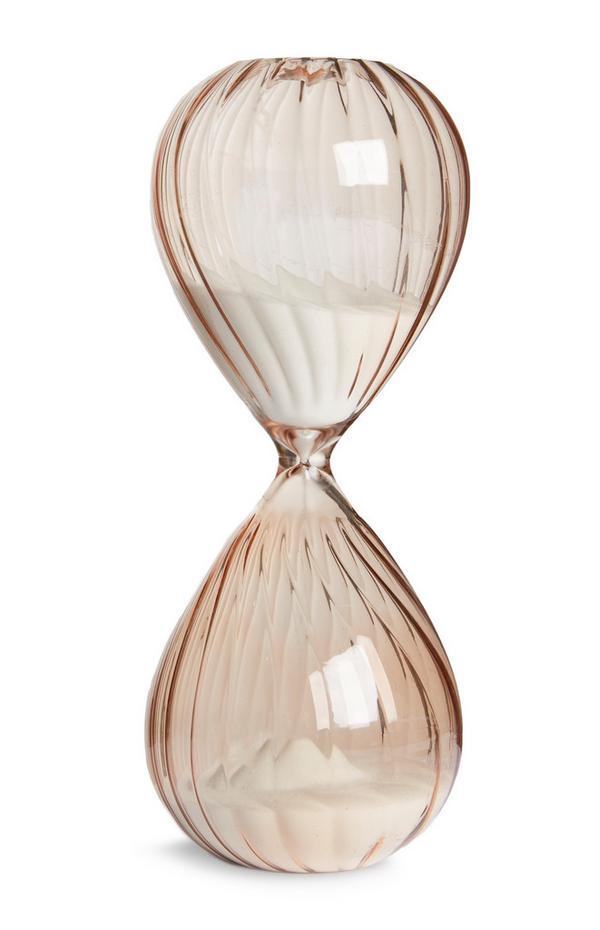 Reloj de arena de vidrio ahumado gris