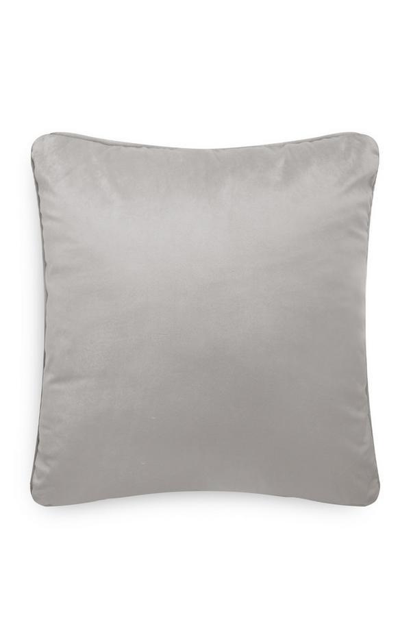 Light Grey Velvet Cushion Cover