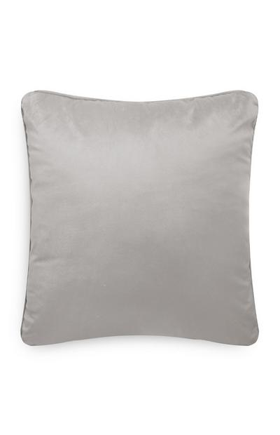 Light Grey Velvet Cushion Cover