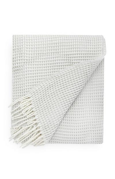 Weiße Decke mit Waffelmuster