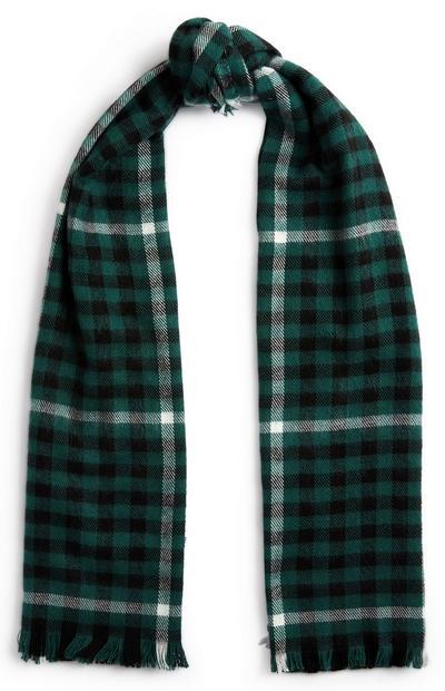 Sjaal met groen-zwarte print