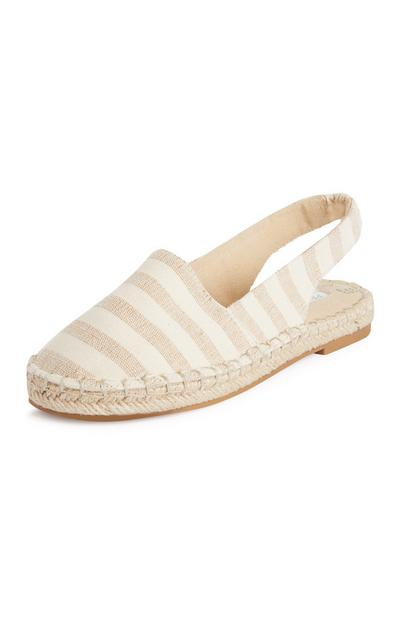 Striped Sling Back Espadrilles