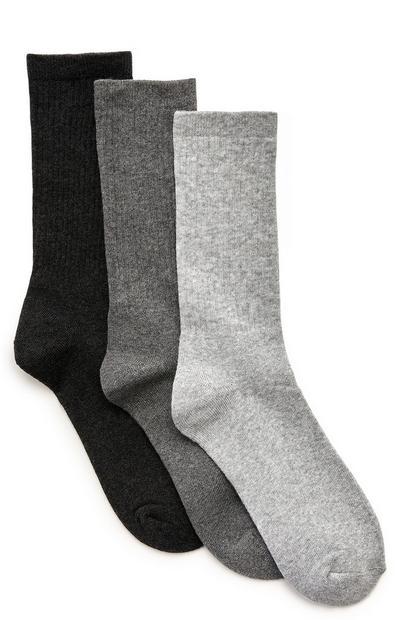 Pack 3 pares meias desporto Wellness preto