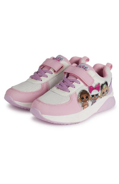 Baskets roses à semelles épaisses Lol Doll fille