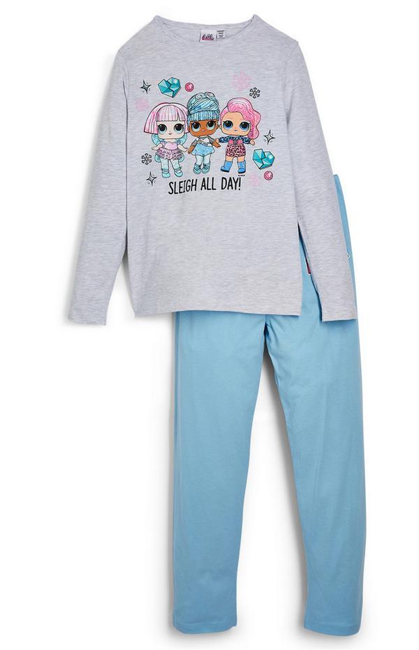 """Blaues """"Lol Doll"""" Pyjamaset (kleine Mädchen)"""
