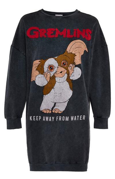 Camicia da notte color grigio scuro Gremlins