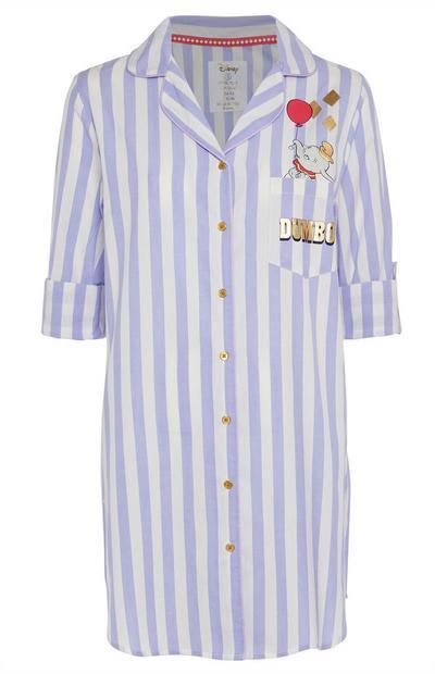 Camisa noite riscas Dumbo lilás