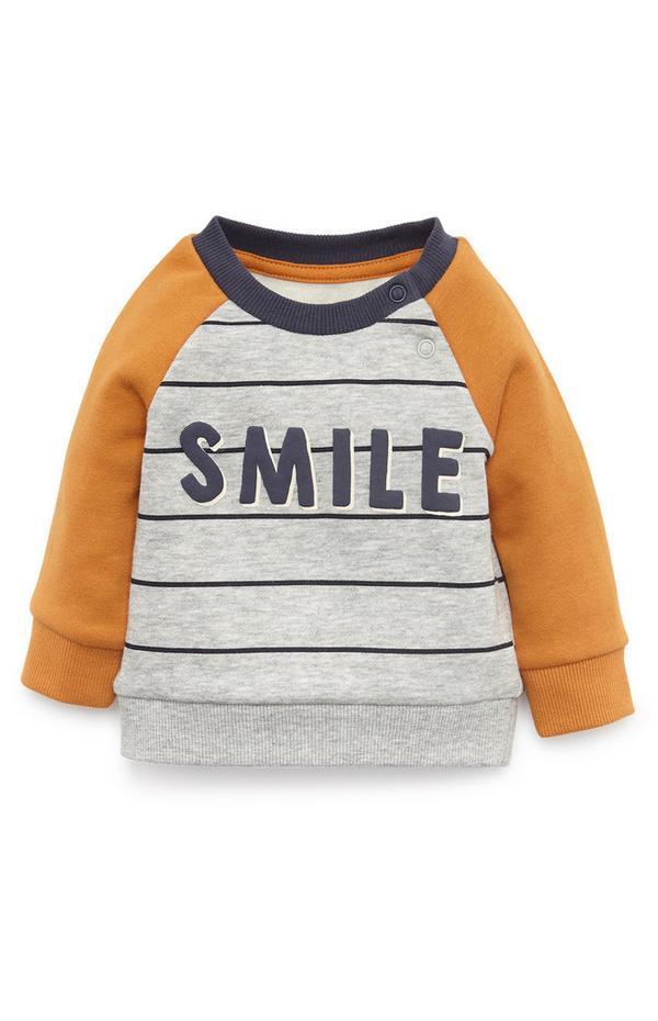 Baby Boy Smile Crew Neck Sweatshirt