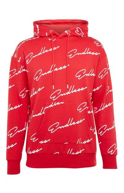 Camisola capuz pescoço fechado Endless vermelho
