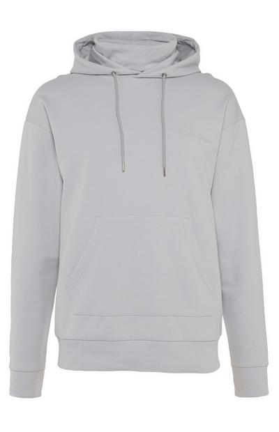 Light Grey Endless Snood Pull Over Hoodie