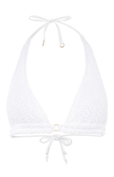 Kvačkan zgornji del bikinija trikotne oblike