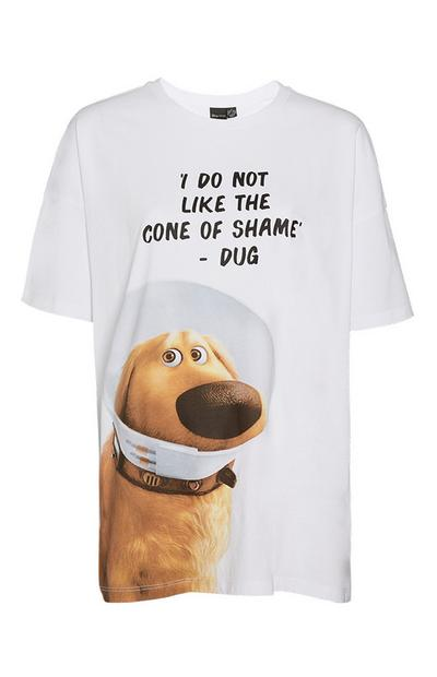 """Up Dug"" T-Shirt in Weiß"