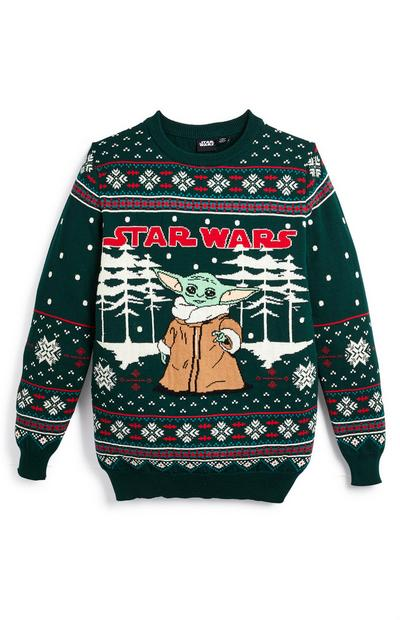 Older Boy Star Wars The Child Christmas Jumper