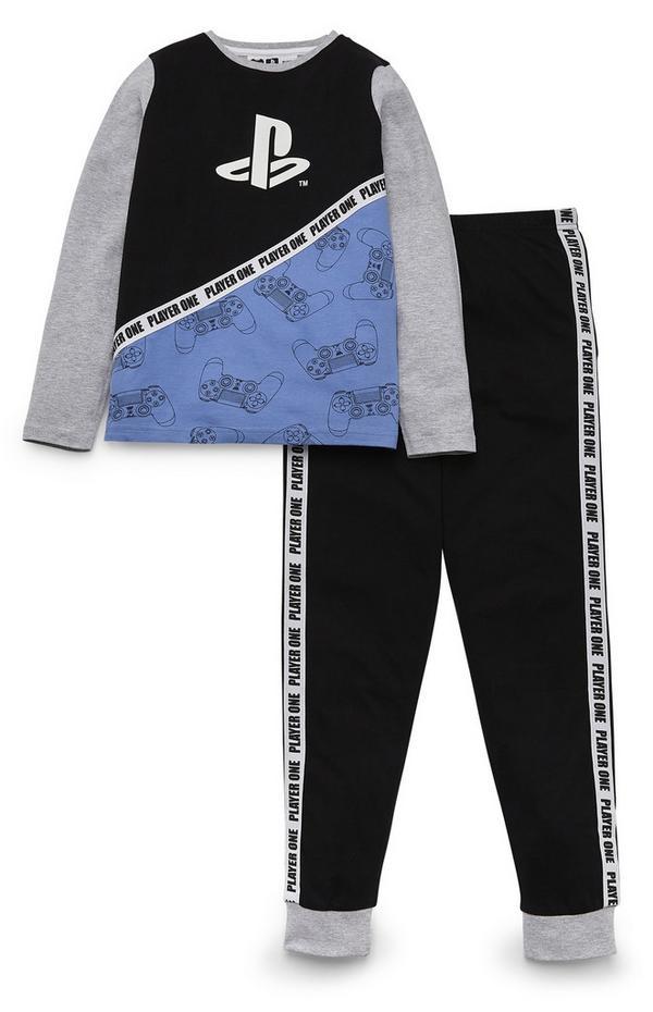 Older Boy Grey PlayStation Pyjamas