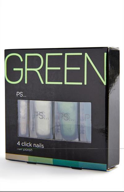 Green Nail Polish Click Set