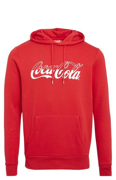 Sweat à capuche rouge Coca-Cola à enfiler