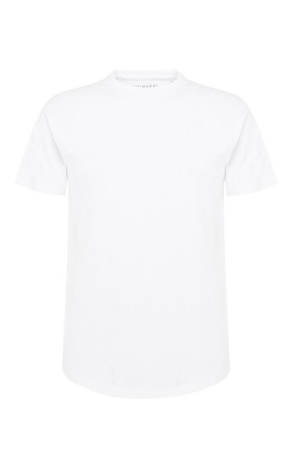 White Stretch Longline T-Shirt