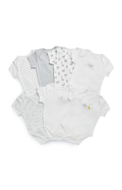 7-Pack Unisex Short Sleeve Onesies