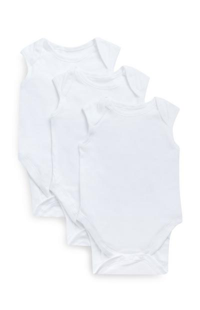 Lot de 3 bodys blancs sans manches
