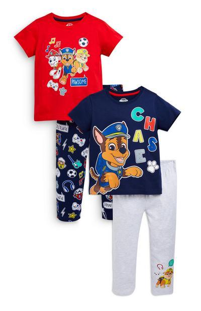 Younger Boy Paw Patrol Pyjamas 2 Pack