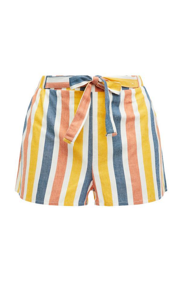 Pastel Candy Stripe Woven Pajama Shorts