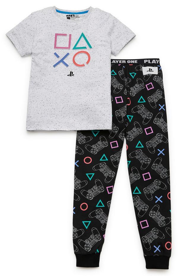 2-delni komplet pižame PlayStation za starejše fante