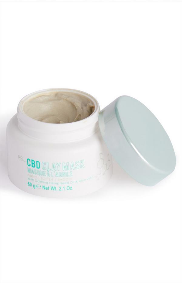 Masque à l'argile contenant du CBD
