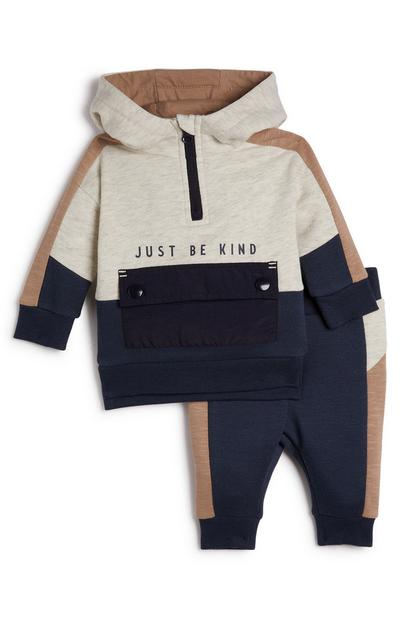 Baby Boy Just Be Kind Hoodie And Jogger Set