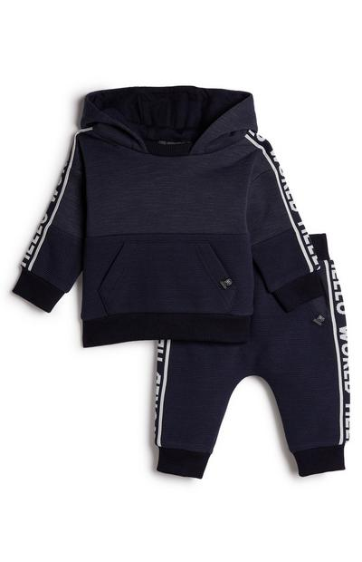 Baby Boy Navy Taped Leisure Set
