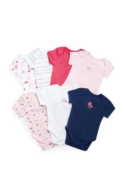7-Pack Baby Girls' Berry Onesies