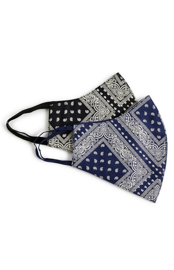 Pack de 2 mascarillas con estampado de bandana