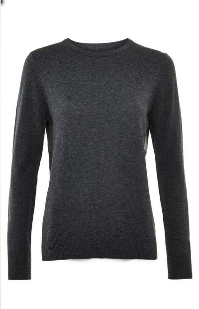 Premium Gray Cashmere Blend Sweater