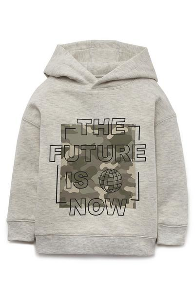Younger Boys Grey Future Is Now Hoodie
