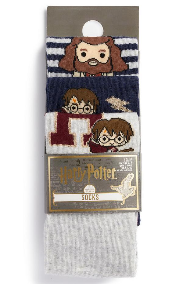 Pack de 3 pares de calcetines con personajes de Harry Potter de Disney