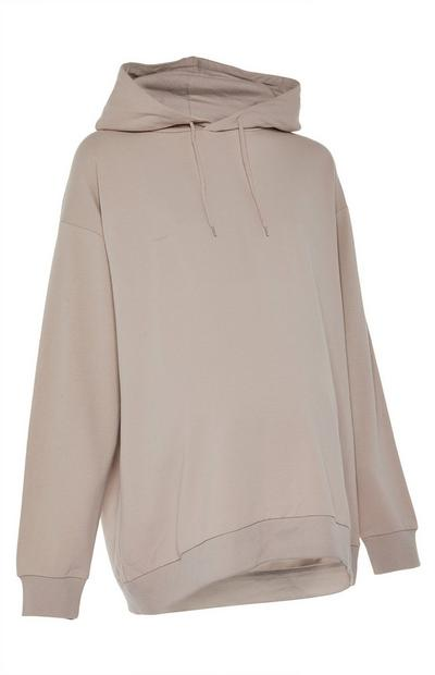 Sweat à capuche beige Maternité