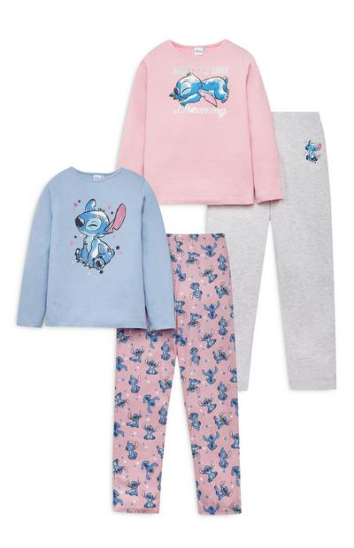 Pack 2 pijamas Lilo e Stitch rapariga